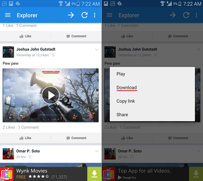 how to download facebook videos in mobile