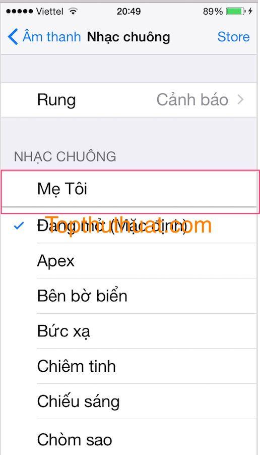 them nhac chuong 11