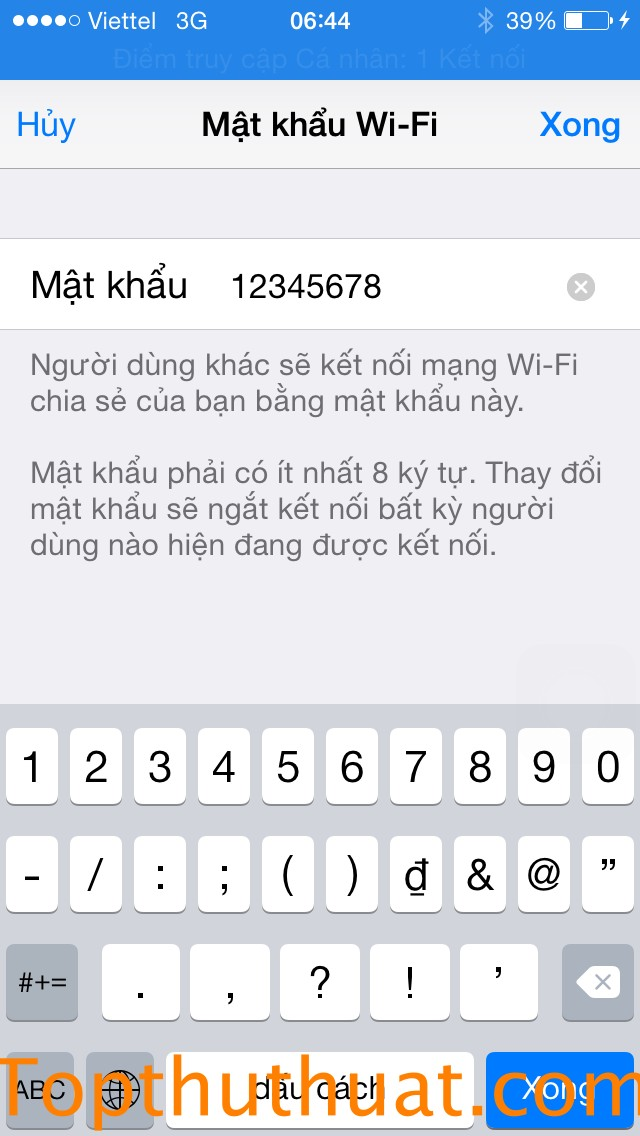 phat wifi tu iphone