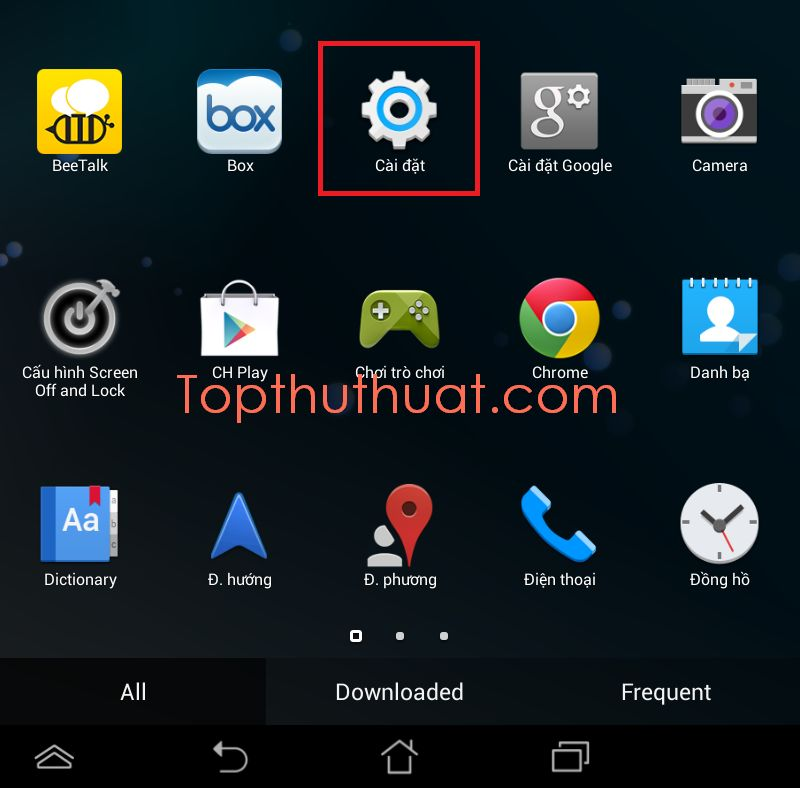 reset điện thoại Android