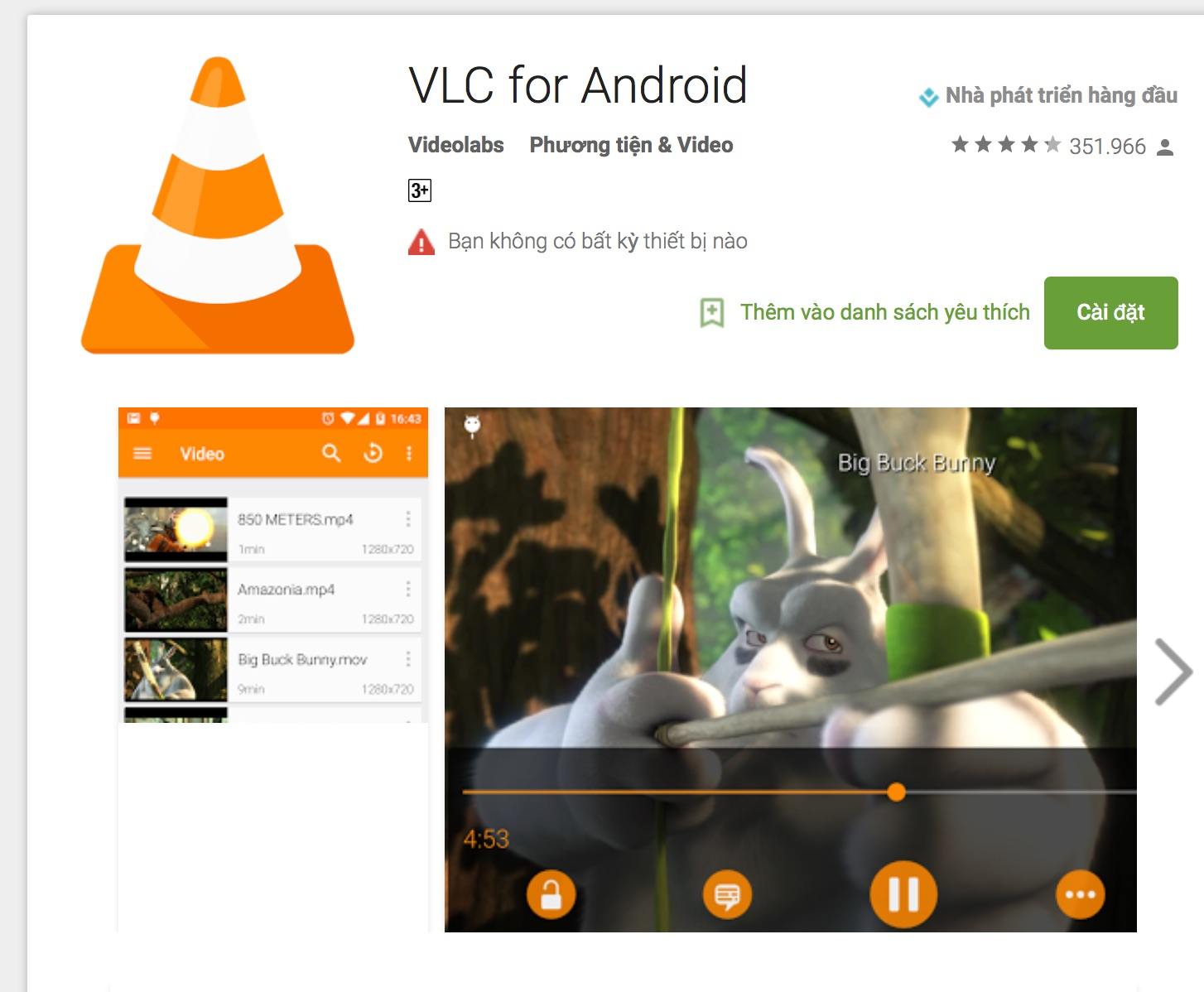 ung dung choi video android