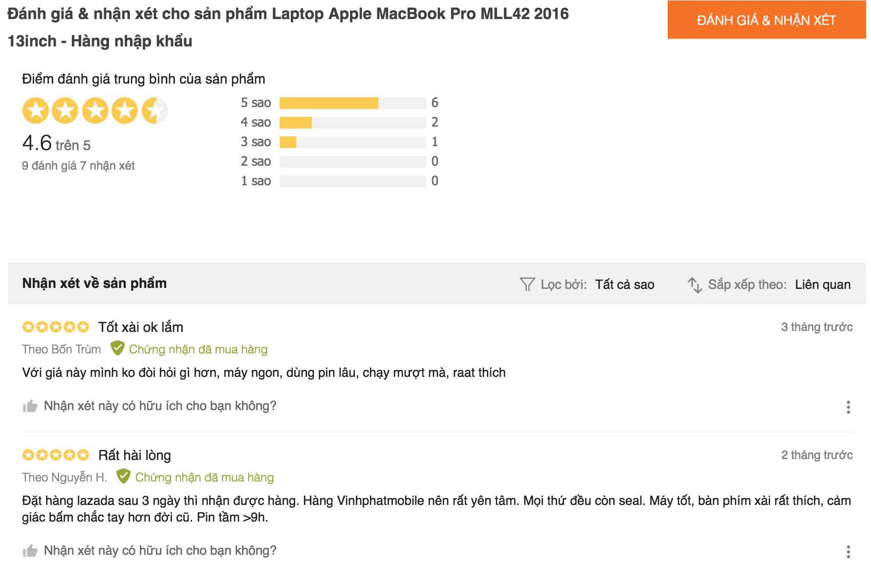 danh gia macbook