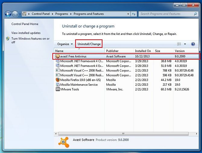 how to clear virus chest avast