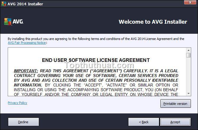 cai dat avg free antivirus