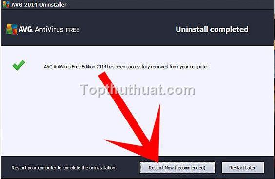 go bo cai dat avg free antivirus