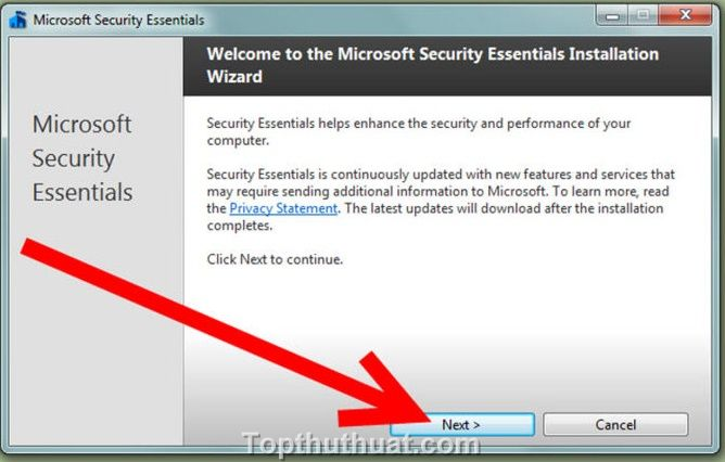 cai dat Microsoft Security Essentials