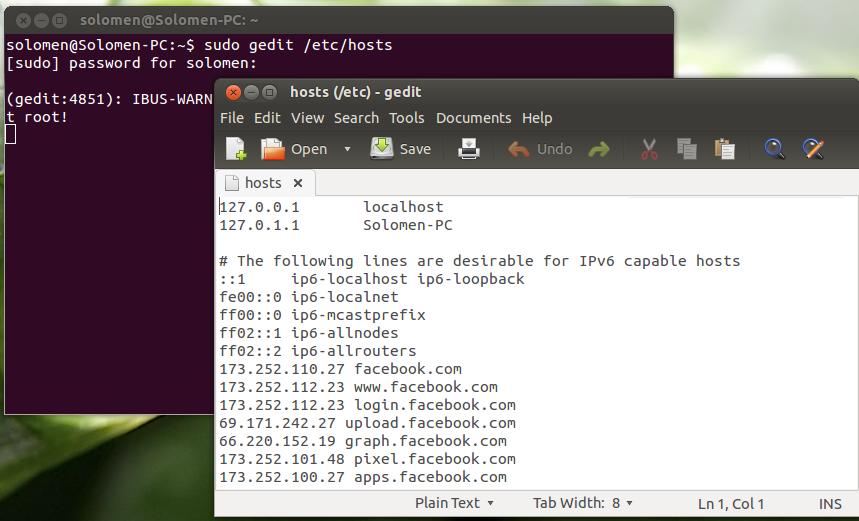 cach vao facebook ubuntu