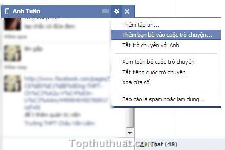 chat nhom trong facebook