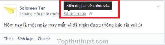 chinh sua trang thai facebook