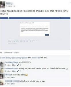 Facebook bi khoa