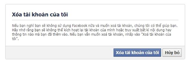 xoa tai khoan facebook vinh vien