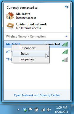 bật Wifi cho Laptop