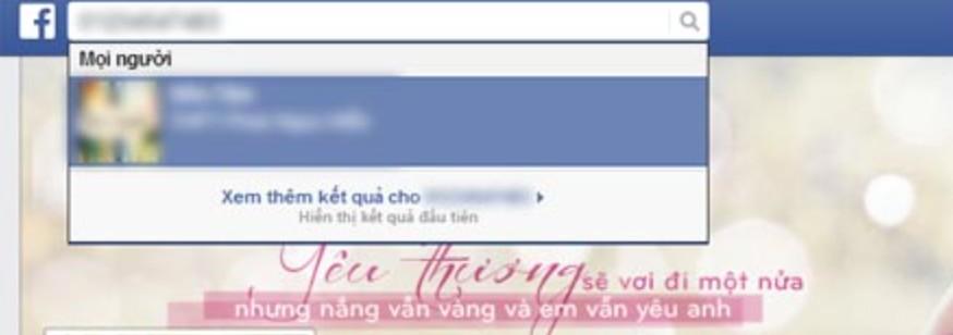tim facebook bang dien thoai