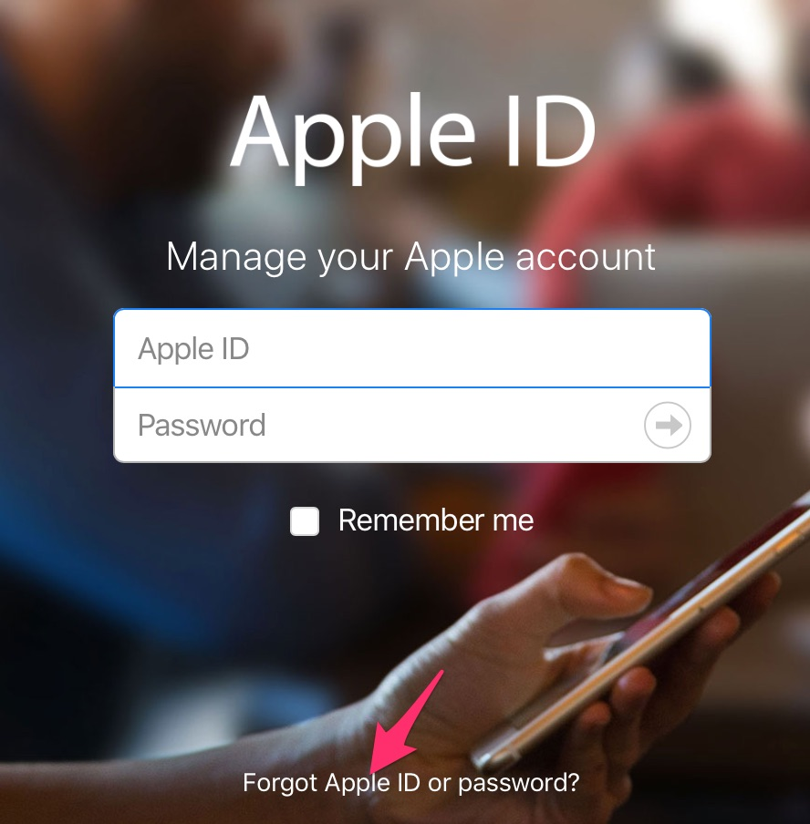 lay lai mat khau Apple ID 1