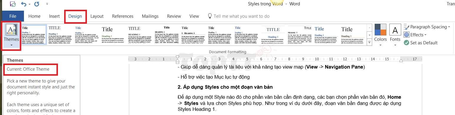 cach su dung style trong word 3
