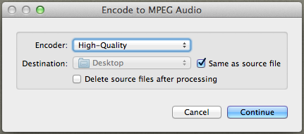 encode to audio