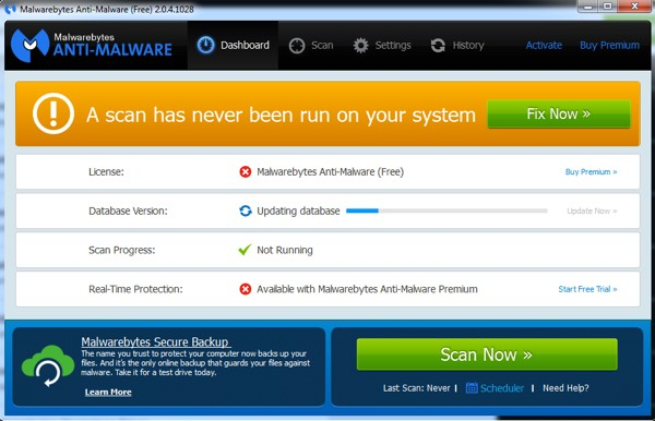 loại bỏ spyware và malware