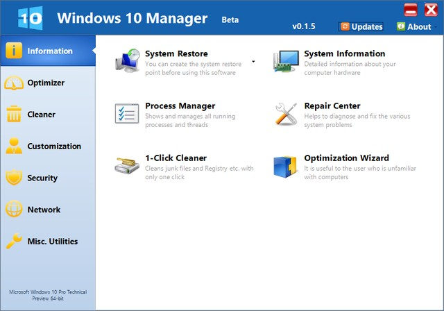 window 10 manager