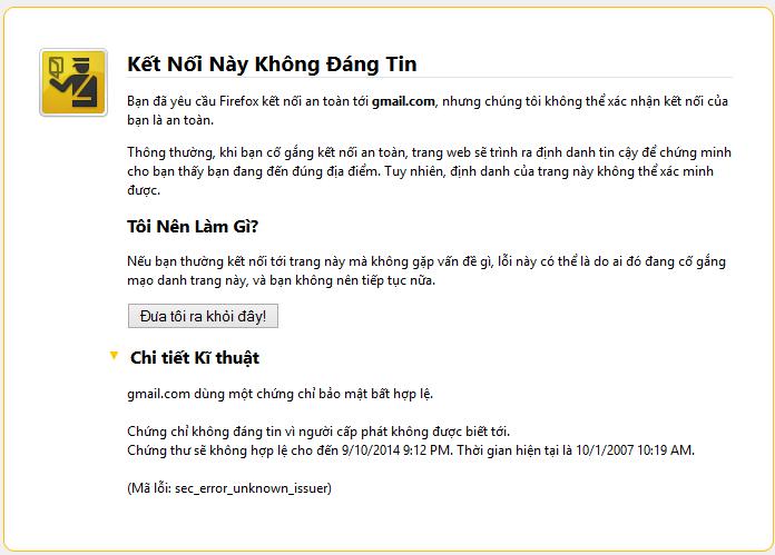 khong vao duoc gmail