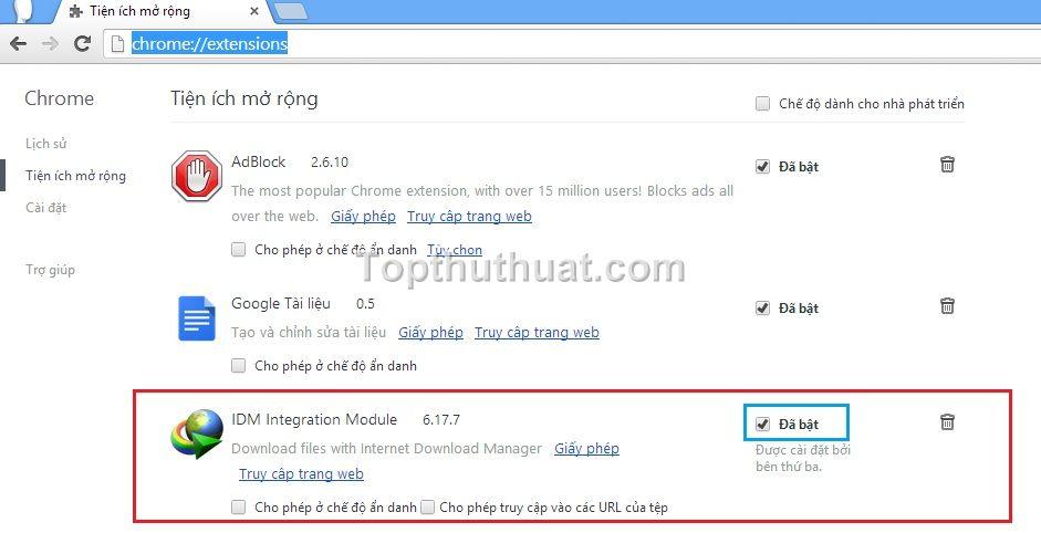 idm khong bat link tren youtube 1