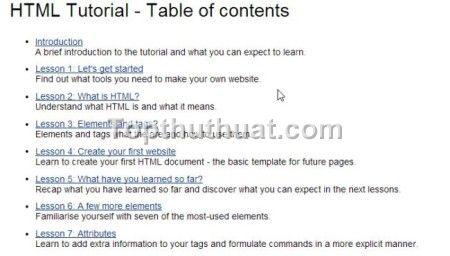 hoc lap trinh web html