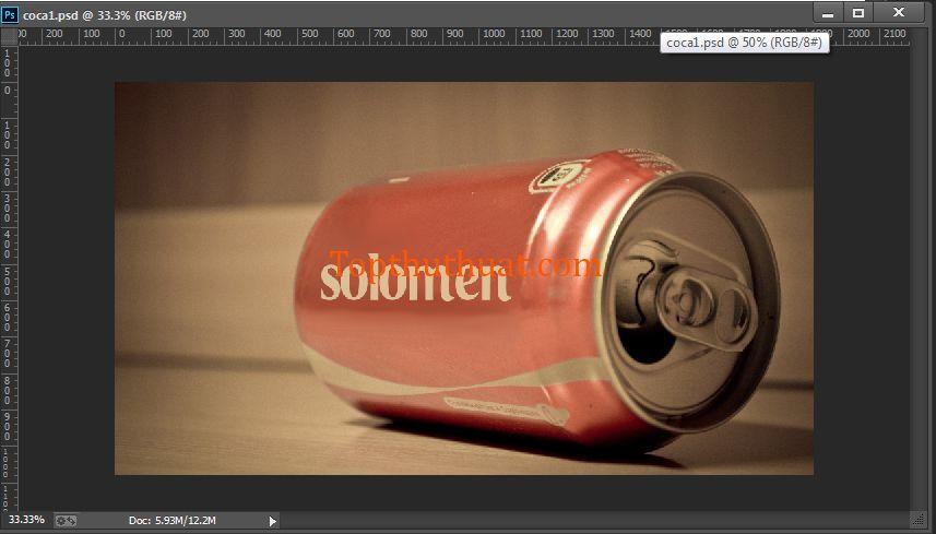 giao dien psd in ten coca cola