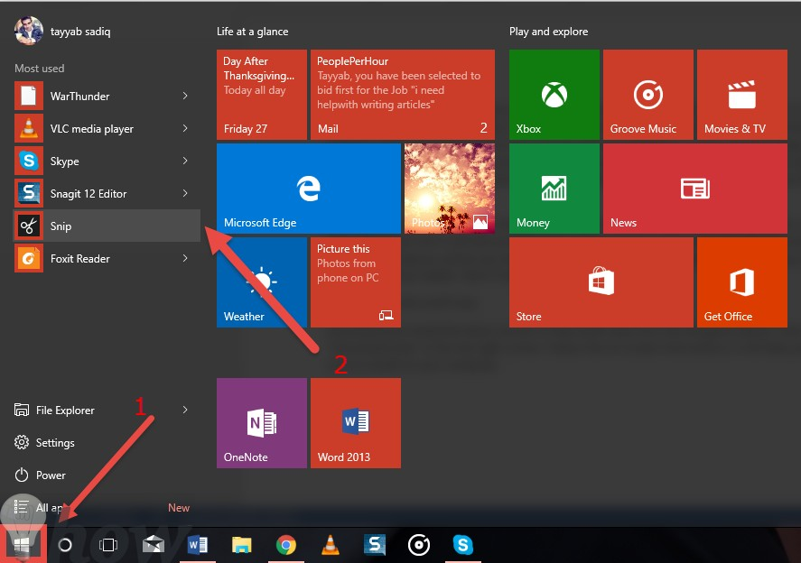 su dung snip windows 10
