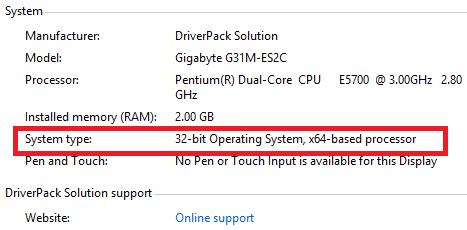 su khac nhu giua Windows 32 va 64bit