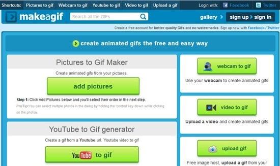 tạo ảnh động GIF từ Youtube