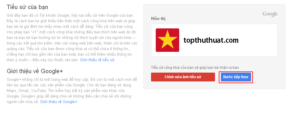 báo chúc mừng bạn đã đăng kí thành công của Gmail