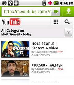 video youtube cho dien thoai