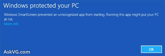 An thong bao Windows SmartScreen prevented