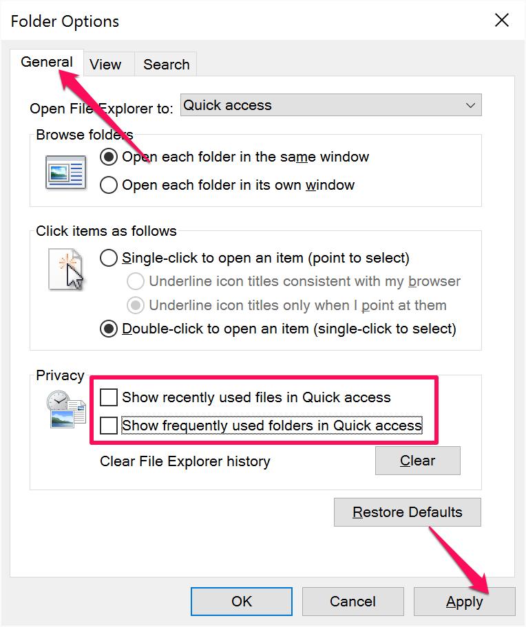 quick access windows 10 3