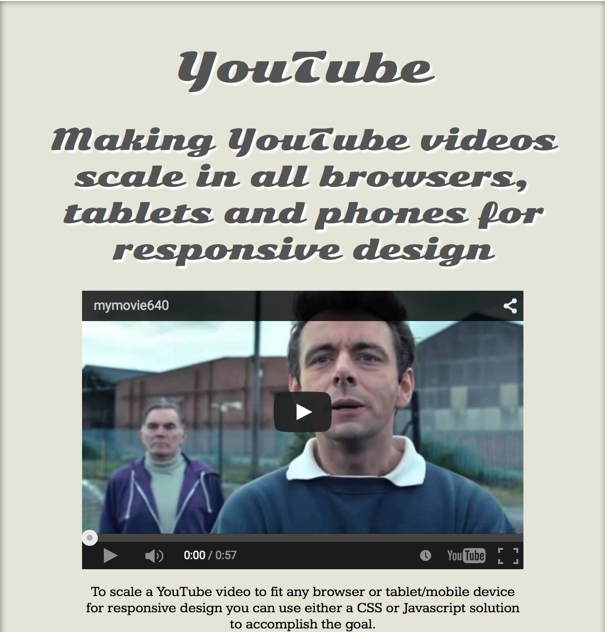 css youtube reponsive 2
