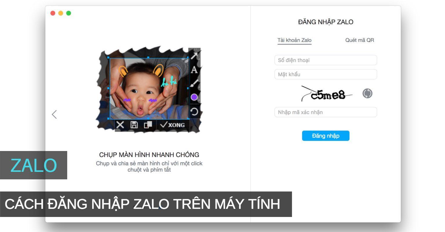 cách đăng nhập tài khoản Zalo