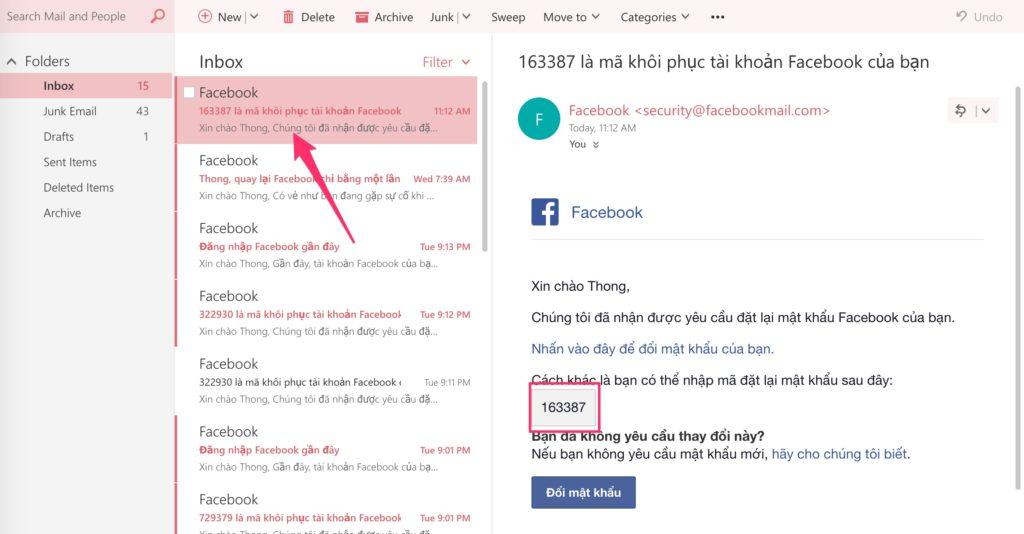 quen mat khau facebook