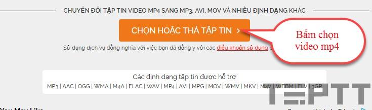 chuyển đổi đuôi MP4 sang MP3