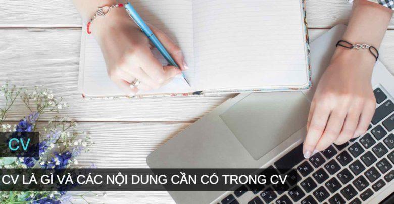 ội dung cần có trong CV?