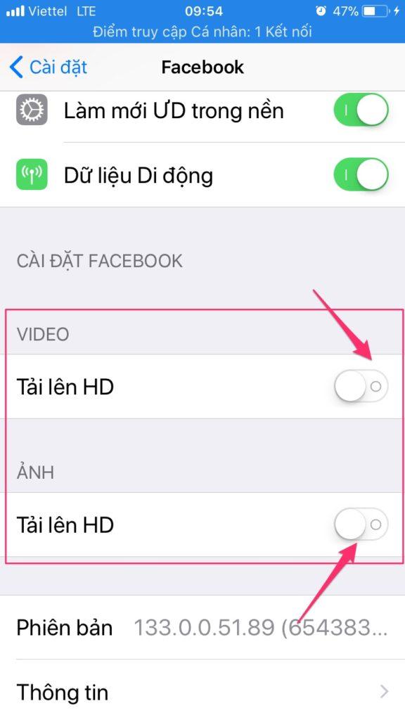 tải ảnh và video chất lượng cao