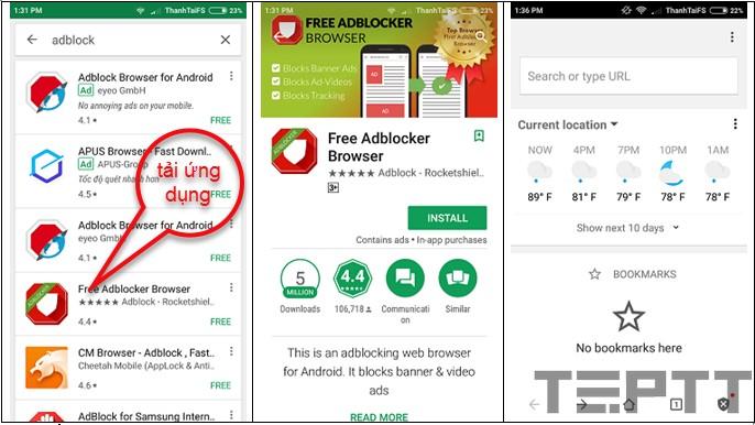 chặn quảng cáo trên Android