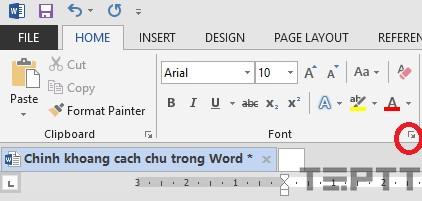 chỉnh khoảng cách chữ giữa các dòng