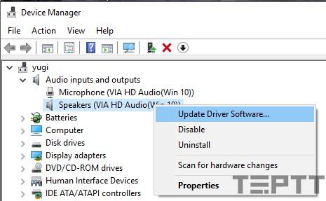 laptop không nhận được tai nghe