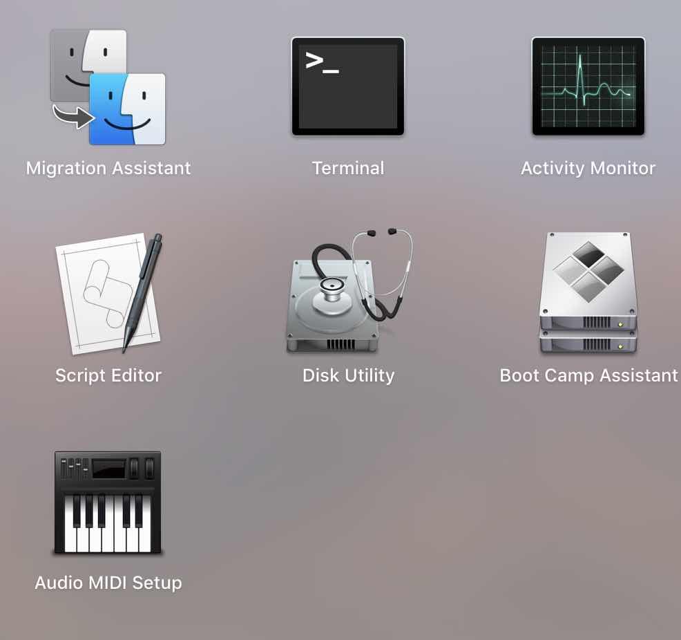 phân vùng ổ cứng macbook