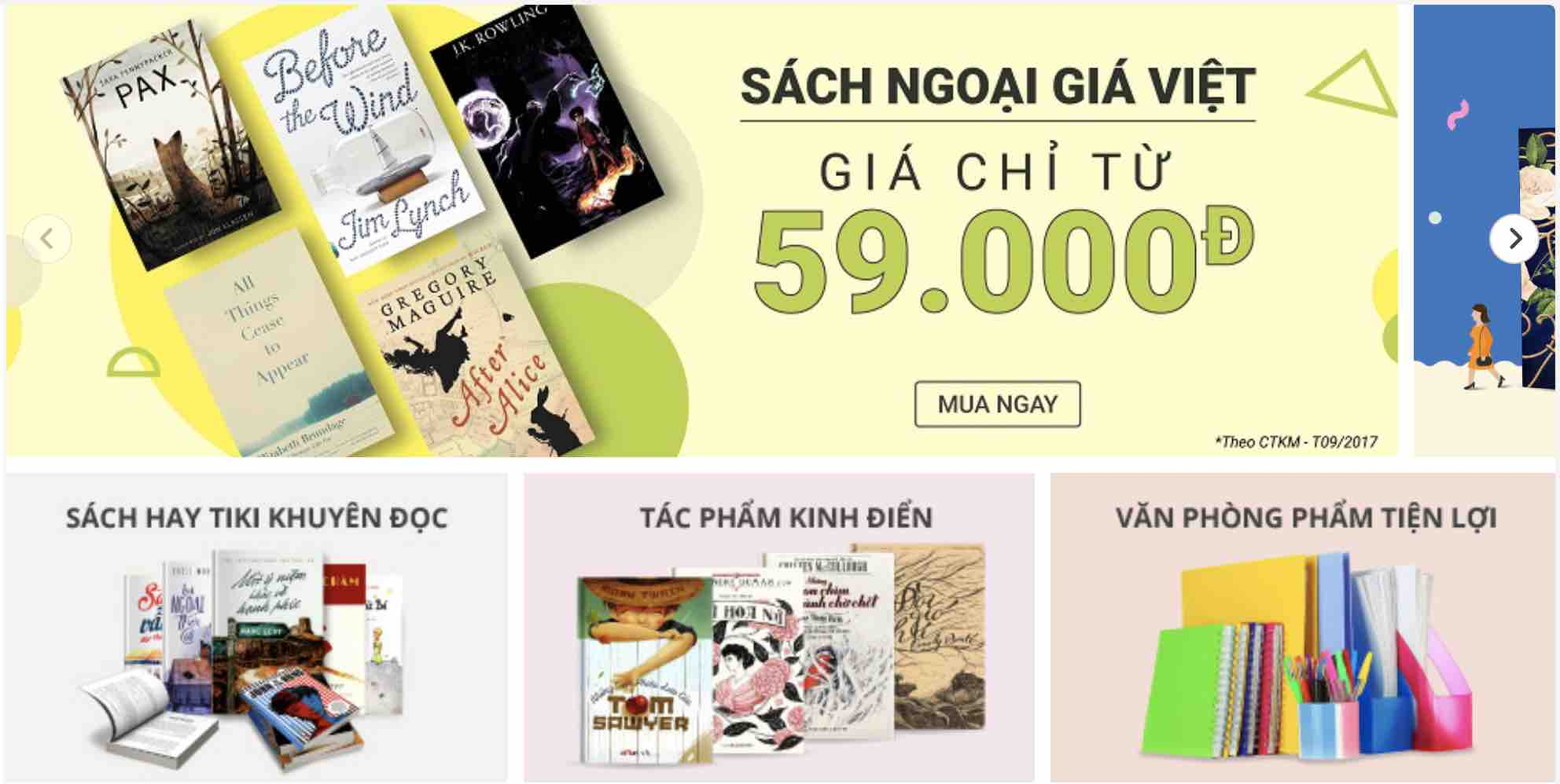 sách bán chạy tại Tiki