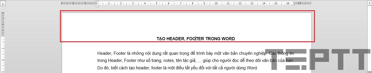 chèn Header và Footer trong Word