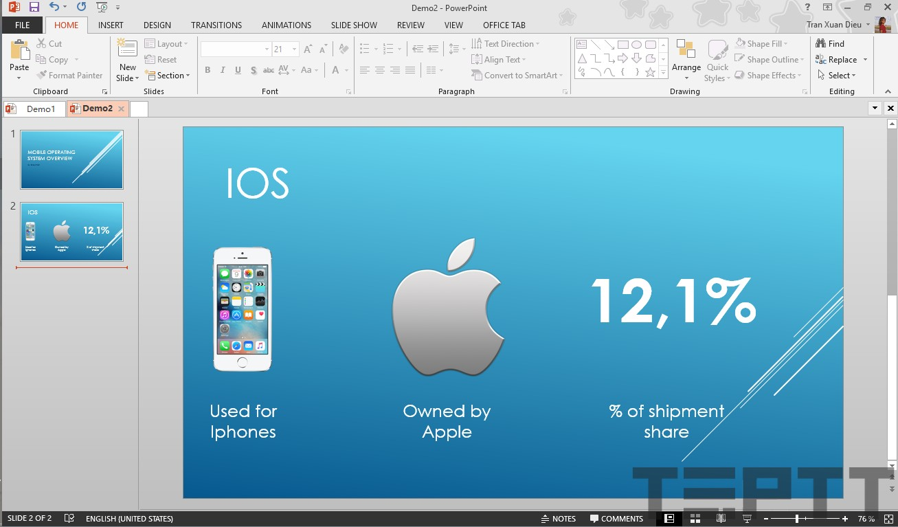 tạo slide powerpoint đẹp