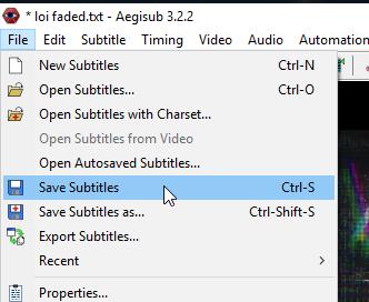 Hướng dẫn cách tạo phụ đề cho Video bằng phần mềm Aegisub
