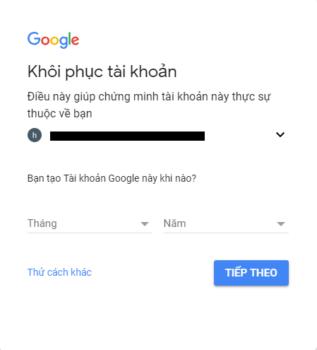 lay lai mat khau gmail