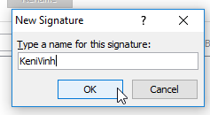 tạo chữ ký trong outlook