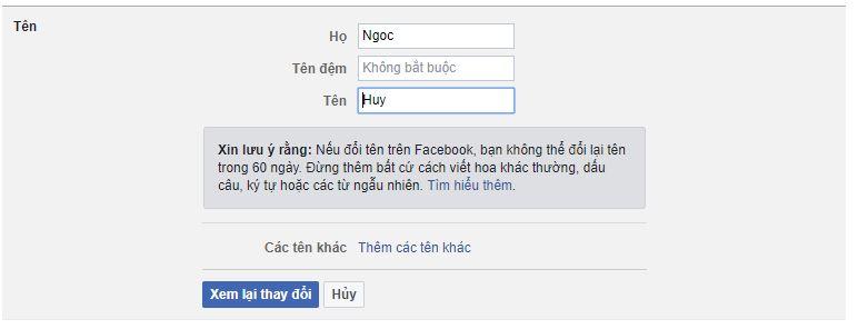 doi ten facebook nhanh